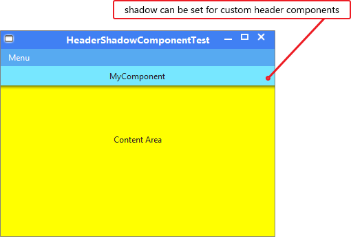 Custom HeaderShadow Component