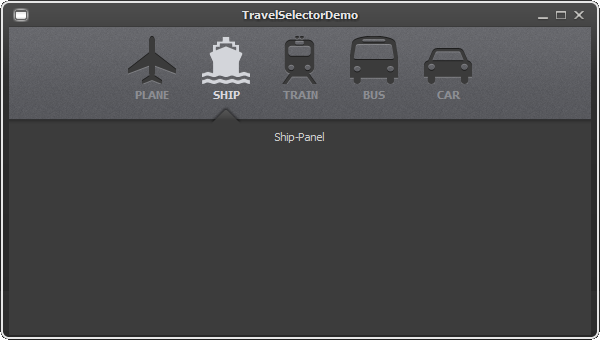 Travel Selector Demo - JYTabbedPane