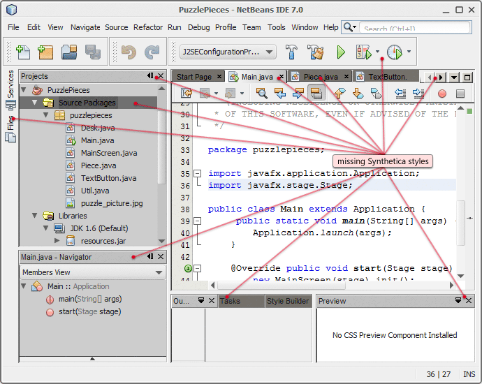 NetBeans without Synthetica-NetBeans Plugin