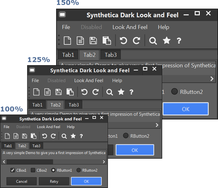 Synthetica 3.1 UI-Scaling