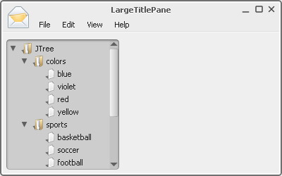Large TitlePane
