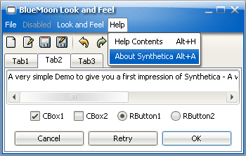 SyntheticaBlueMoon Java Look and Feel