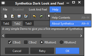Synthetica Dark Theme Screenshot