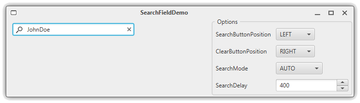 SearchField-Demo Screenshot