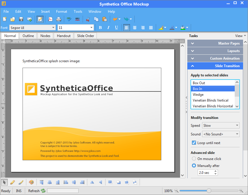 Synthetica Office Demo